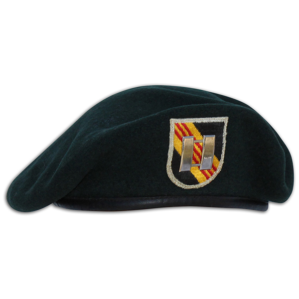 Frederick Caristo's US issued 5th SFG beret. 1A