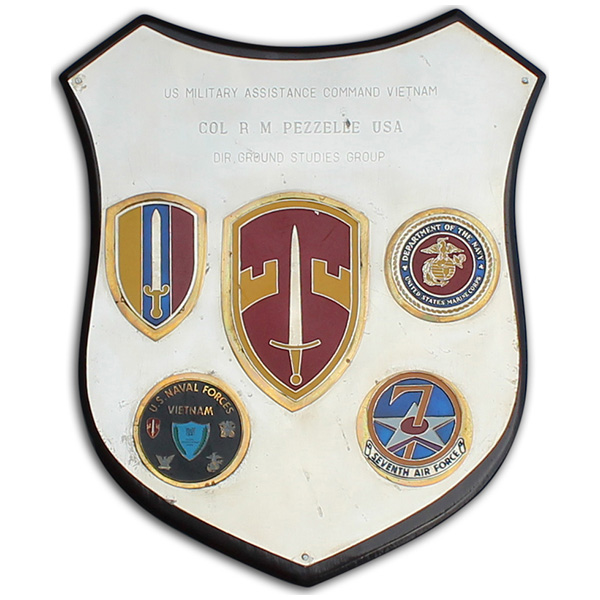 Roger Pezzelle's SOG Headquarters OPS-35 plaque.