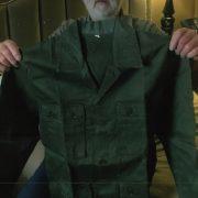 Richard Mullowney holding his CISO uniform top, October 2018. 1A - Copy