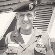 Donald Jutz wearing his 5th SFG Beret (Jutz) 23