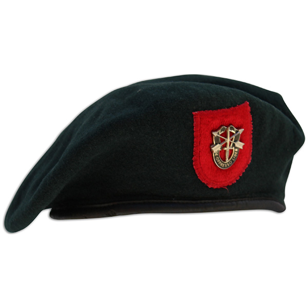 Tommy Tomlin's embroidered beret. 1A