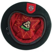 Tommy Tomlin's embroidered beret. 1B