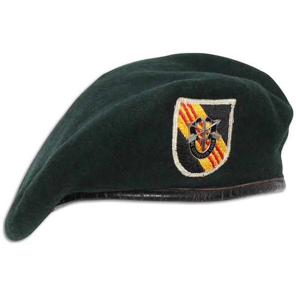 Reynaldo Castro's embroidered beret. 1B