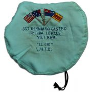 Reynaldo Castro's embroidered beret. 1F